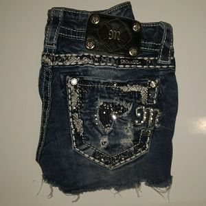 """Miss Me Jean Shorts Tag Size 23 waistband 25"""""""
